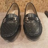 Туфли мокасины на танкетке