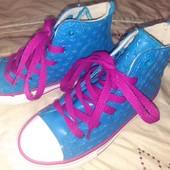 Одни такие! Крутые кеды-резиновые сапоги. Объемный декор, оригинал Converse uk11/28.5/17.5см ножка