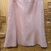 На пышные формы! Шикарная нежная пудровая юбка лен-вискоза на подкладе р.16 Новая Акция читайте