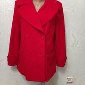 Шикарное весеннее яркое нарядное пальто 60%шерсть р.13 Новое Акция читайте