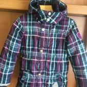 Куртка, весна, внутри флис, размер 6 лет 116 см, charles vögeles. состояние отличное