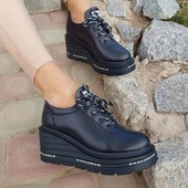 Женские кроссовки из натуральной кожи и замши