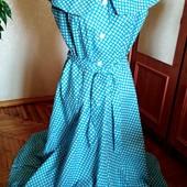 Новое хлопковое платье в горошек, размер-М-L, бесплатная доставка Укрпочтой.