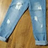 Джинсы женские голубые котоновые Размер 28 Поб 48 Пояс 38 посадка 23 ткань не тянется подойдет на ра