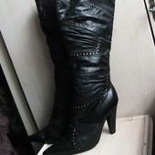 Новые кожаные сапоги на цигейке 36р