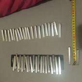 Один лот. 60шт зажим уточка металл 5.5см и 6.5 см