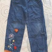 Штаны джинсы вильветовые на 5-6лет. Одним лотом