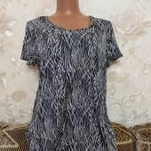 Блуза женская в черно-белый принт Pep s Co, размер Л