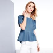 Стильная блузка под джинс из лиоцила Tchibo германия размер 38 евро=44