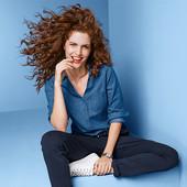 Элегантная джинсовая рубашка- блуза от Tchibo (германия) размер 42 евро=48