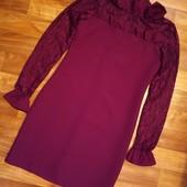 Плаття ( s-m) темно-бордове