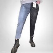 Хит хитов ,двухцветные джинсы Момс-весна 2021