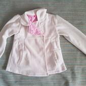 Флисовая курточка пиджак тренч на 7-8 лет