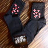 Носки мужские черные Мухоморчики, р.40-45, в лоте 2 пары