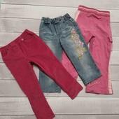 Лот штаны вельветовые, джинсы, спортивные штаны на 2-3 лет