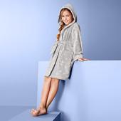 ☘ М'якенький махровий халат в горошок від Tchibo (Німеччина), розмір: 146/152