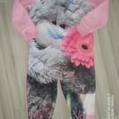 Слип пижамка на девочку 4-5лет замеры на фото