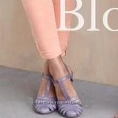 ❤️Ecco ❤️шикарные брендовые стильные босоножки натуральная кожа р.40 = 26 см