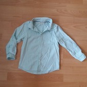 Фирменная рубашка Н&М на 5-6 в отличном состоянии,нежно мятного цвета
