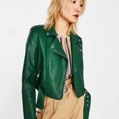 ❤️Bershka Испания оригинал❤️трендовая укороченная куртка косуха!!Модная стильная эффектная XS