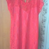 ***1000лот Собирайте Красивое кружевное платье 48-50 рр на спинке сердечки пог 55-65