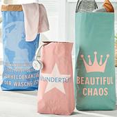 2 сумки в лоте!! Декоративные сумки для белья, бумаги, игрушек в детскую комнату