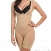 Комбидрес утягивающий для коррекции фигуры Slim shapewear телесный (размер l-xl, s-m)