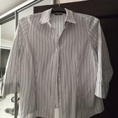 Рубашка приталенная, в полосочку, Papaya. Размер 18