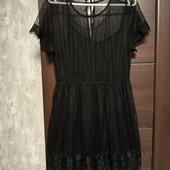 Фирменное красивое платье в хорошем состоянии р.14-16