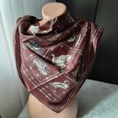 Оновлення! Стильний аксесур, платок, 77см на 77 см, класний принт