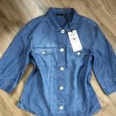Джинсовая рубашка Le comte, одежда премиум-класса,одежда для успешной женщины