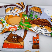Коты! Набор ярких и забавных полотенец из хлопка!