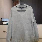 Классный, стильный свитер, джемпер с чокером Atmosphere p. 16/xxl