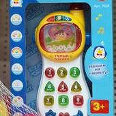 """Телефон развив.интеракт.""""Умный телефон""""-многофунционал.телефон.Звук,свет.цифры,буквы,и др.В идеале!♥"""