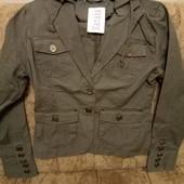 Классный натуральный пиджак-куртка. Смотрите замеры.