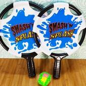 Ракетка для игр в воде детская, 2шт, 38см, мягкий мяч 6 см