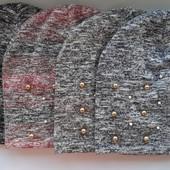 Симпатичная двойная шапка, осень/весна