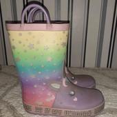Резинові чобітки з єдинорожками ,розмір28