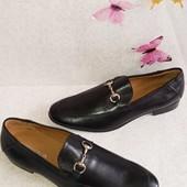 Кожаные мужские лоферы туфли Италия 42р.