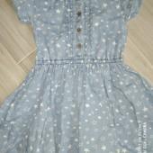 Брендовые вещи деткам@George Джинсовые платье на 4-5лет замеры на фото