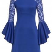 Шикарное платье, цвет электрик размер 44-46 от Bodyflirt