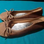 Новые балетки из нат. кожи Debbie Ballerinas, разм. 36 (23,5 см внутри). Сток.