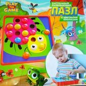 Мозаика-пазл с цветными кнопками Play the game
