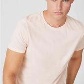 Хлопковая футболка C&A Германия, р.М, нежно-розовая