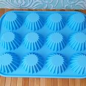 Форма для выпекания кексов 12 ячеек | Силиконовая форма для выпечки кексов | Селіконова форма для ви