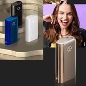 Устройство для нагрева табака  qlo Hyper + ( plus),синий и черный цвет.