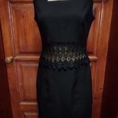 Платье с кружевной вставкой s-m