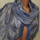 Красивый нарядный фактурный невесомый шарф палантин 165/35 Новый Акция читайте