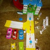 Ф1+Ф2+Ф3 Дорога трек с машинками, игрушки мягкие, конструктор, киндеры, животные! Лот все