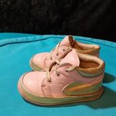 Полностью кожаные деми ботинки Trendy Wear, разм. 20 (12,5 см внутри). Сост. хорошее!